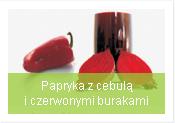 papryka z cebulą i burakiem