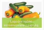 ogórki konserwowe z papryą