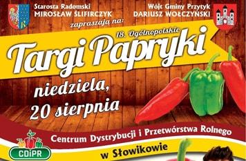 Zapraszamy na XVIII Ogólnopolskie Targi Papryki!