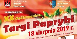 Zapraszamy na XX edycję Ogólnopolskich Targów Papryki do Przytyka